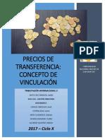 Precios de Transferencia-Concepto de Vinculación