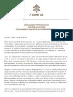 Papa Francesco 20180127 Messaggio Fraternita