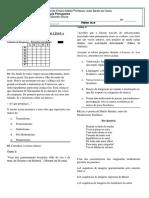 AVALIAÇÃO BIMESTRAL  DE LÍNGUA PORTUGUESA aluno reposição.docx
