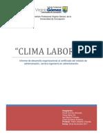 Informe Final, Clima Organizacional