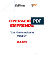 Bases Del Concurso Operación Emprende 3ed