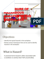 2. Procedure of Hazardous Analysis in the Workplace
