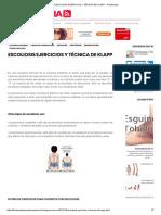 Escoliosis Ejercicios y Técnica de Klapp _ Fisioterapia