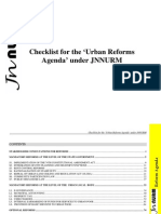Checklist for the 'Urban Reforms Agenda' under JNNURM