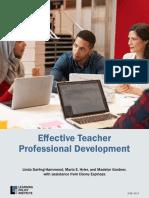 Effective Teacher Professional Development REPORT