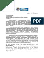 Carta Al Almagro de Junta Patriotica y La Coalicion