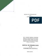 Manual de Intro a La Criminalistica (Moreno)