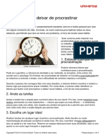 8 Passos Deixar Procrastinar