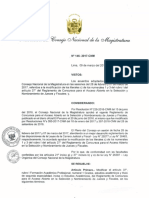 Resolución Consejo Nacional de la Magistratura