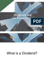 Computation of Dividends