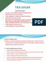 Kuliah Farmasetika Dasar 2016-2