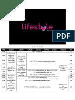 Lifestyle Network Schedule (2017-2018)