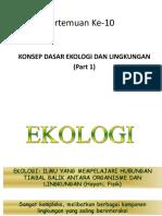 (10,11) Ilmu Lingkungan Dan Ekologi
