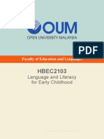 HBEC2103 Language and Literacy for Early Childhood