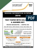 209 RMO 2016 Goa Maharashtra Solution
