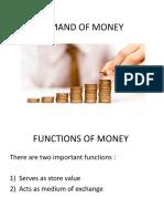 Demand of Money