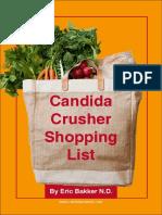 Candida Crusher Shopping List