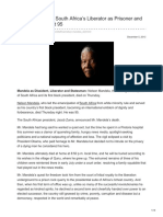 Nytimes.com-Nelson Mandela South Africas Liberator as Prisoner and President Dies at 95