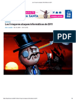 Los 5 Mayores Ataques Informáticos de 2011