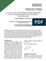 Levamisole HCl Spectro