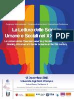 2014 12 12 Congresso La Lettura Delle Scienze Umane e Sociali Nel XXI Secolo Programma