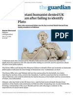 Pakistani humanist denied UK asylum after failing to identify Plato | UK news | The Guardian