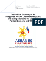 REYES_The Political Economy of the Philippines' ASEAN Chairmanship and Its Importance to the Country's Political Economy and Citizens