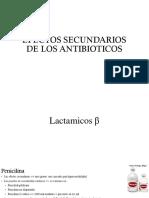 Efectos Secundarios de Los Antibioticos