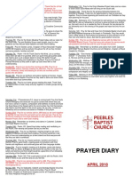 Prayer Diary April 2018