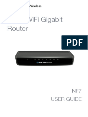 TPG N300 WiFi Gigabit Router NF7-User-Guide | Wi Fi | Ip Address