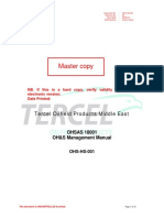 Ohs-hs-001 - Ohsas 18001 Oh&s Management Manual