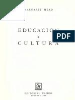 Mead Margaret - Educacion Y Cultura