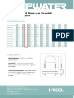 Nu-Bolt Pipe Bolt Dimensions Imperial) I-Rod Pipe Supports
