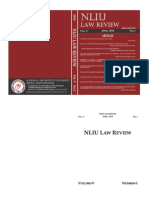 Nliu Law Review Vol v No i April 2016