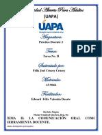 Tema II. La Comunicación Oral Como Herramienta Docente. (1)