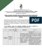 1573edital Na02 2018 Prorhae Processo Seletivo Simplificado Tecnicos Especializados e Instrutor Musical
