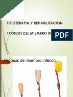 Protesis Del Miembro Inferior.