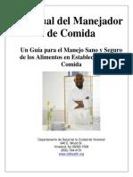 FoodhandlerManualspanish-manaul de Comidas Calienta y Frio