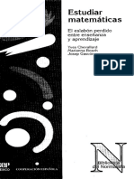 Estudiar Matemáticas (Chevallard 1998)