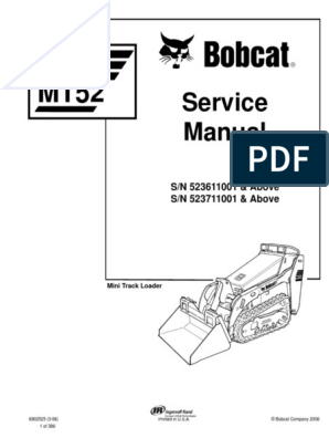 Bobcat MT52 6902525 SM 3-06 | Loader (Equipment) | Elevator