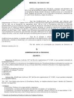 Resolucion que Modifica artículos del Decreto N° 313/85