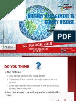 Dietary Managment in Kidney Disease - Mrs. Mariam Allaik Kamareddine