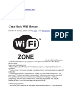 Cara Hack Wifi Hotspot Dengan Aplikasi