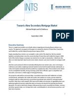 Toward a New Secondary Mortgage Market
