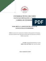 Evaluación del cumplimiento de medidas de bioseguridad en la Estrategia Nacional de Inmunizaciones aplicadas por profesionales de enfermería