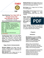Moraga Rotary Newsletter March 20 2018