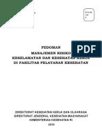 Pedoman Manajemen Resiko-K3 Di Fasyankes