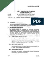 N CMT 2-02-004 04 Materiales Concreto Hidraulico