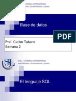 Bd 04a El Lenguaje SQL Parte 1