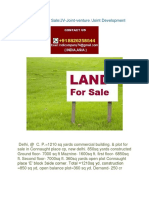 LAND PLOT for Sale JV-Joint-Venture Joint Development for Builder Developer in India